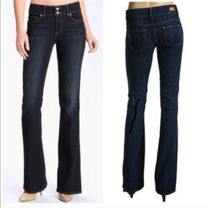 🆕 Paige Hidden Hills High Rise Boot Cut Jeans 24